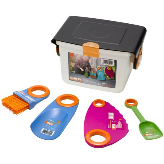 My first fiskars box set with small garden tools kids tools for Childrens gardening tools new zealand
