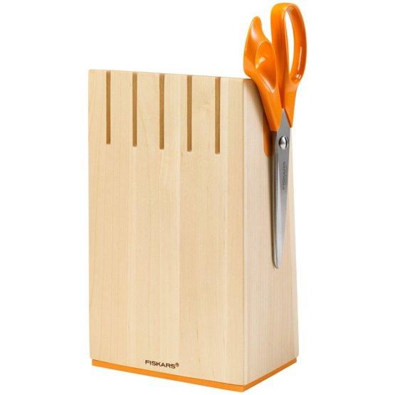 Birchwood knife block for 5 knives