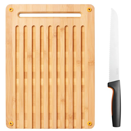 Functional Form Bamboo bread board and knife set