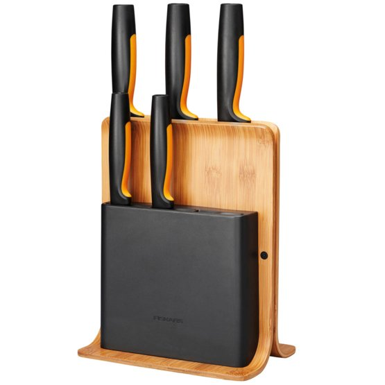Functional Form Bamboo knife block 5 knives