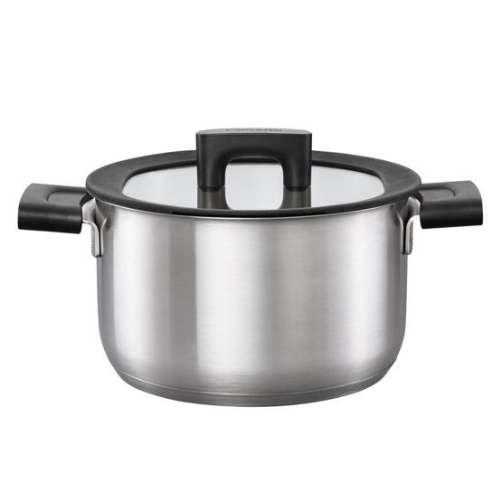 Hard Face Casserole 3,5L/20cm with lid, stainless steel
