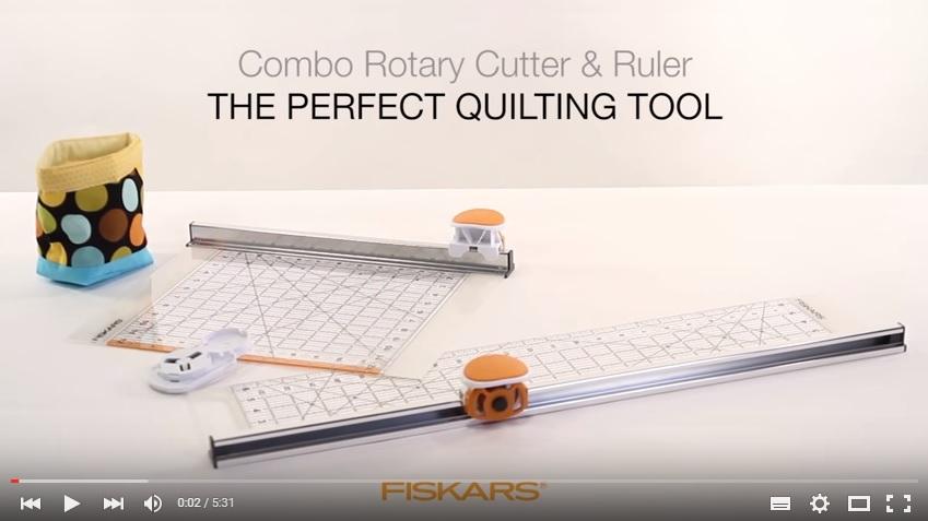 "Combo Rotary Cutter (Ø45mm) & Ruler (6""x24"")"